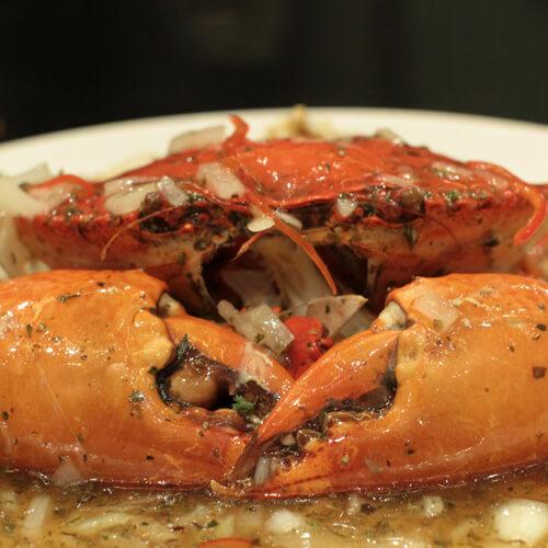 黑糯米酒焗红星梭子蟹