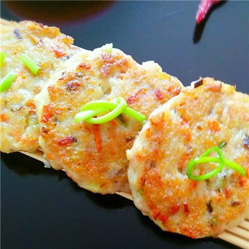 煎荠菜豆腐饼