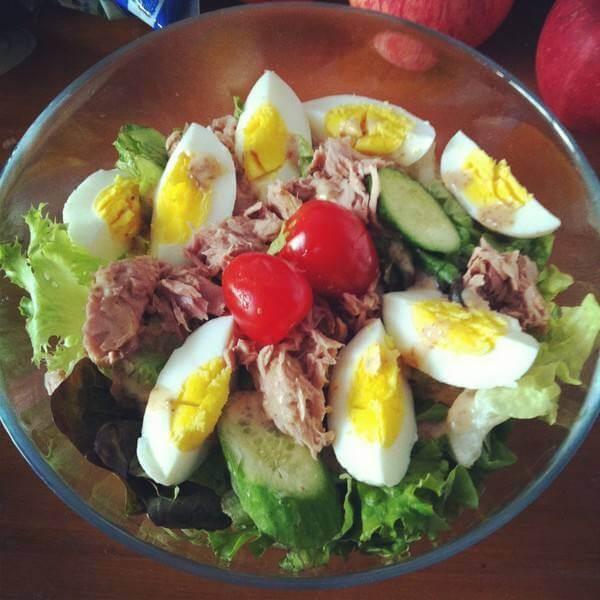 鲜蔬金枪鱼沙拉