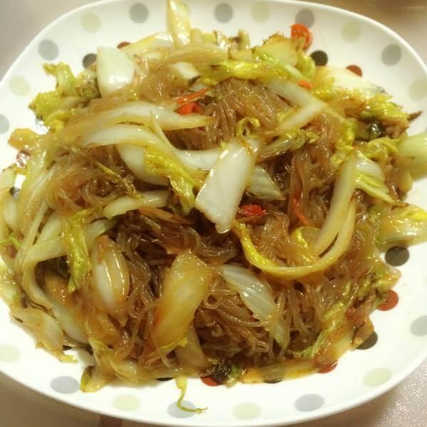 芥菜炒粉丝