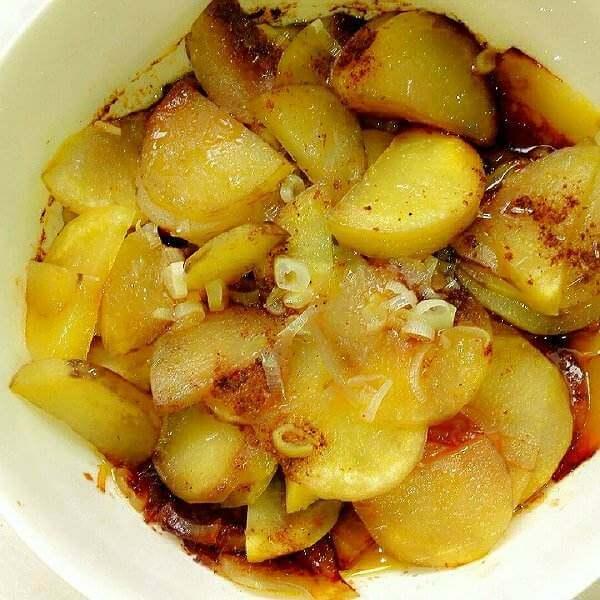咸肉蒸土豆