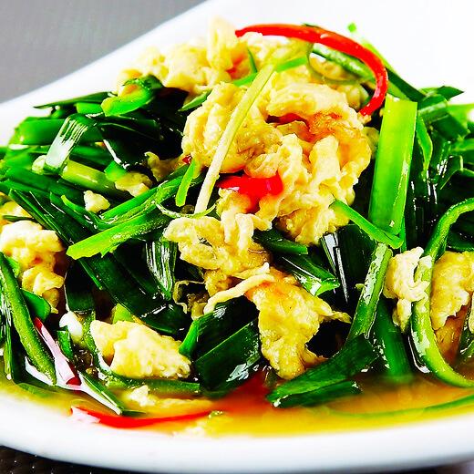 韭菜银鱼炒鸭蛋