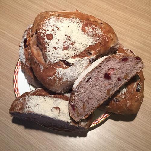 全麦核桃莓子面包