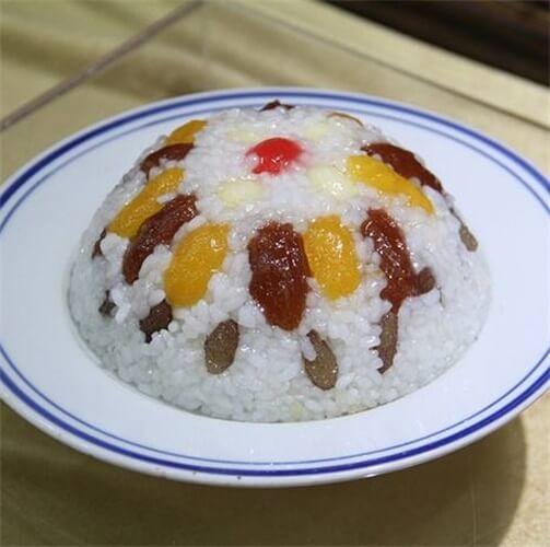 蜜汁紫米八宝饭