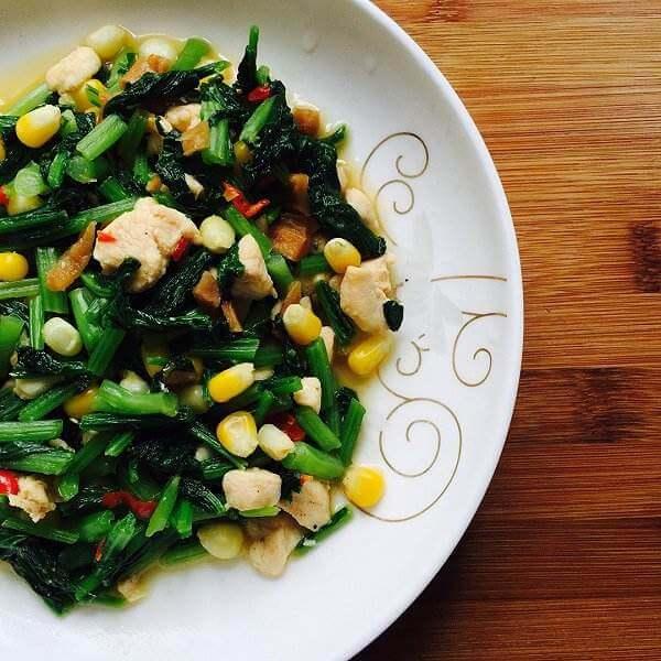 健康美食之肉丝菜苗