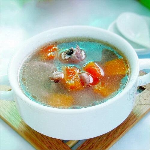 健康的花生木瓜汤