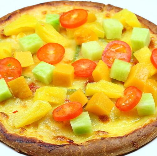 美味蔬果披萨
