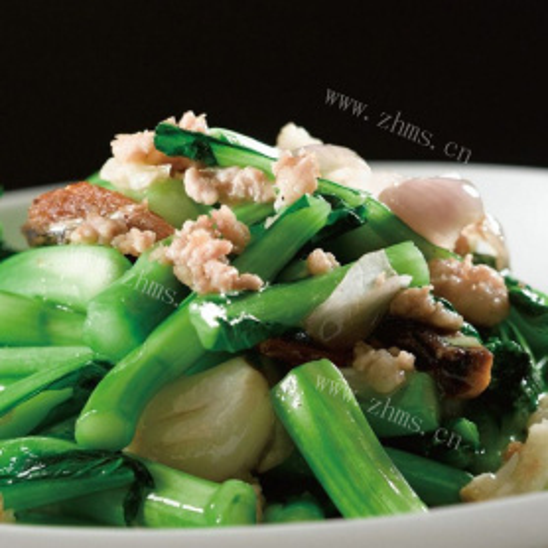 猪油渣炒菜心