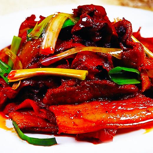 回锅肉炒双蔬