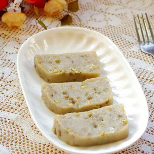 不错的绿豆糯米蒸糕