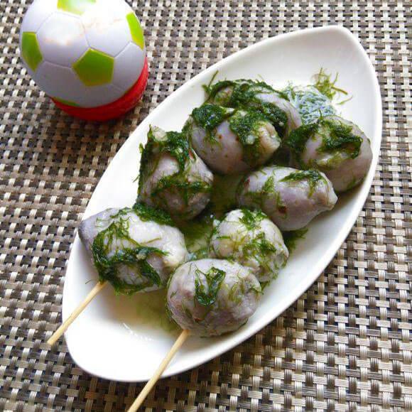 自制苔条芋艿串
