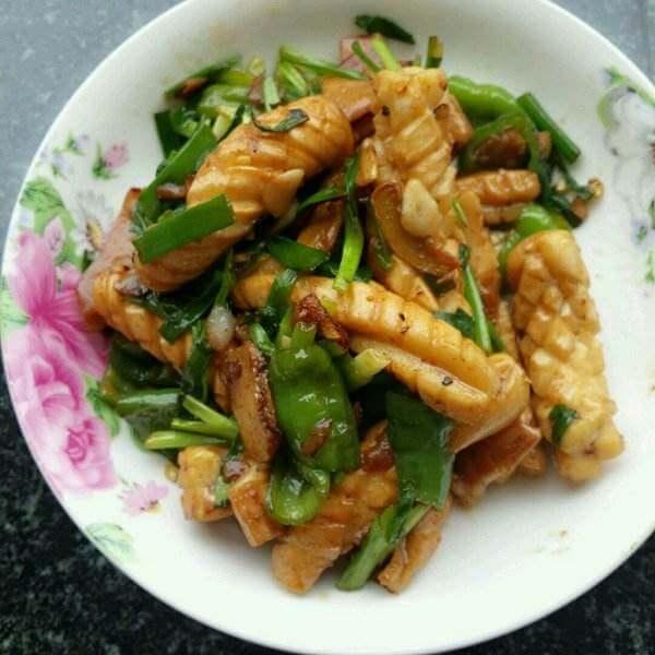 辣椒豆豉炒鲜鱿