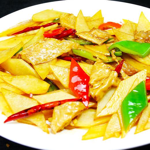 家常版尖椒土豆片