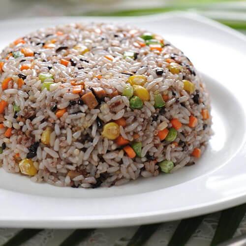 豆腐彩蔬蛋炒饭