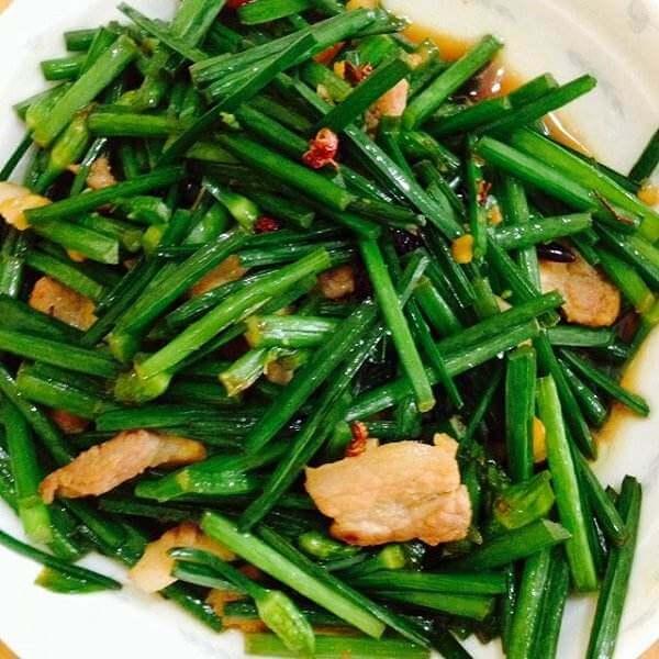 韭菜炒煎豆腐