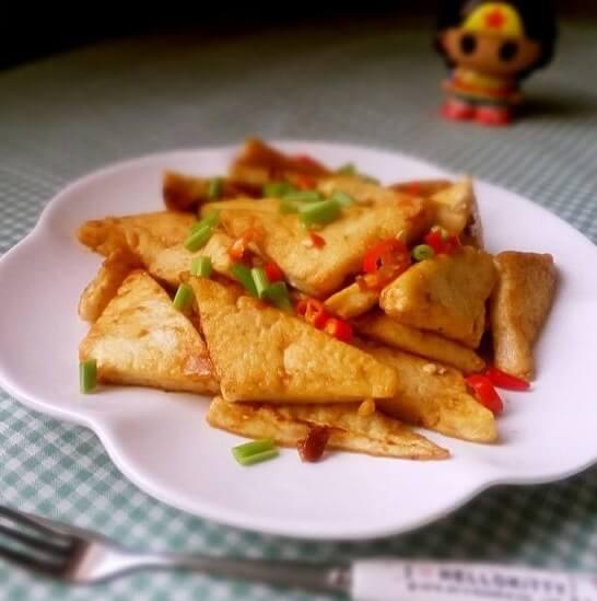 香煎金黄豆腐