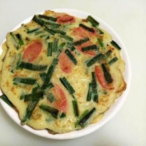 韭菜鸡蛋炒火腿肠