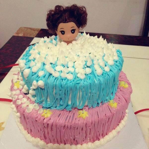 迷糊娃娃水果生日蛋糕