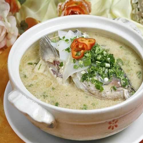菜花马面鱼头汤