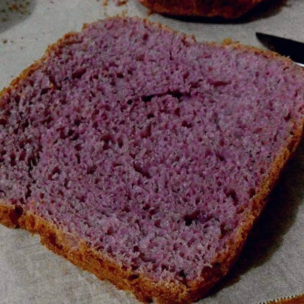 紫薯花纹吐司