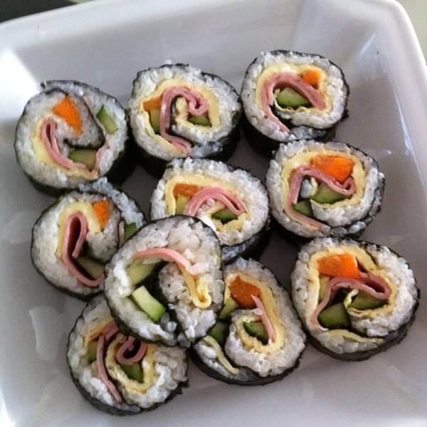 蛋黄火腿寿司