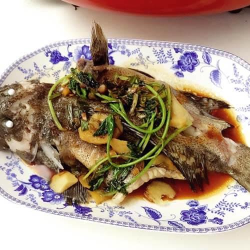 清蒸咸石斑鱼