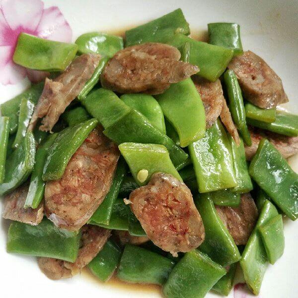 香肠炒芸豆