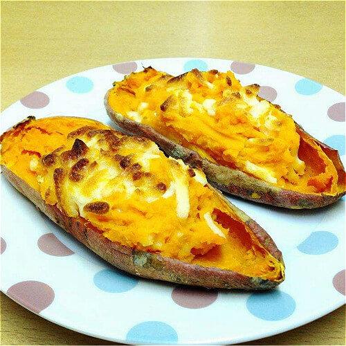 健康美食之蒜香焗薯角