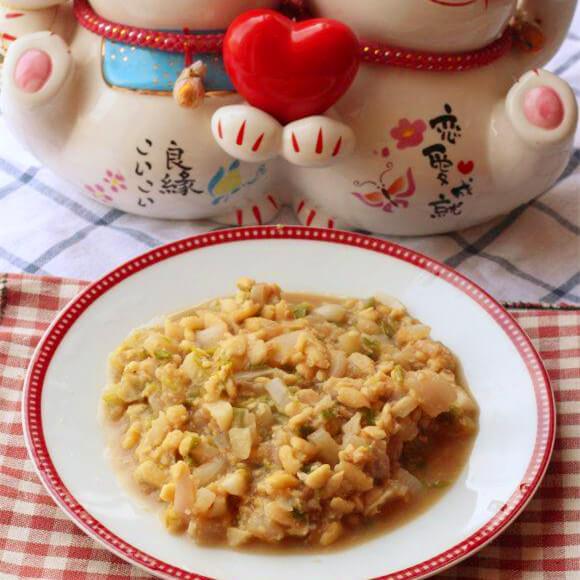 美味的双葱小豆腐