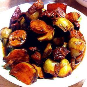 五花肉焖茨菇