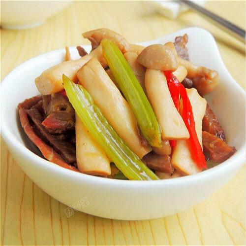 芹菜蘑菇炒肉片
