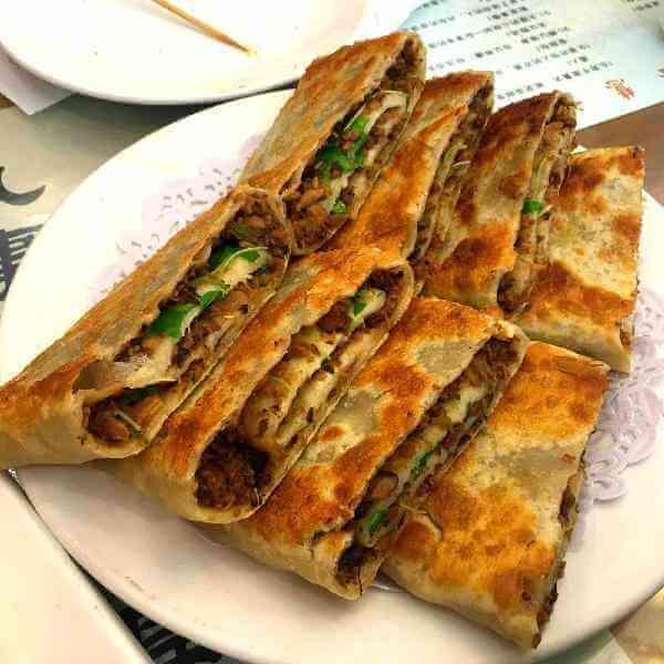 腐皮蘑菇肉饼