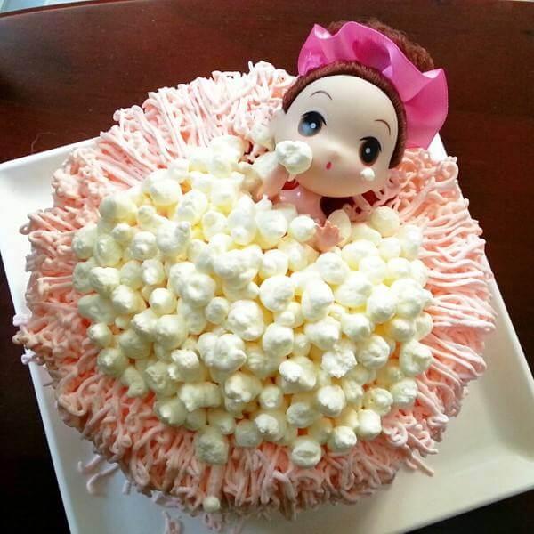 小清新芭比蛋糕