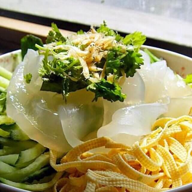 菠菜拌拉皮