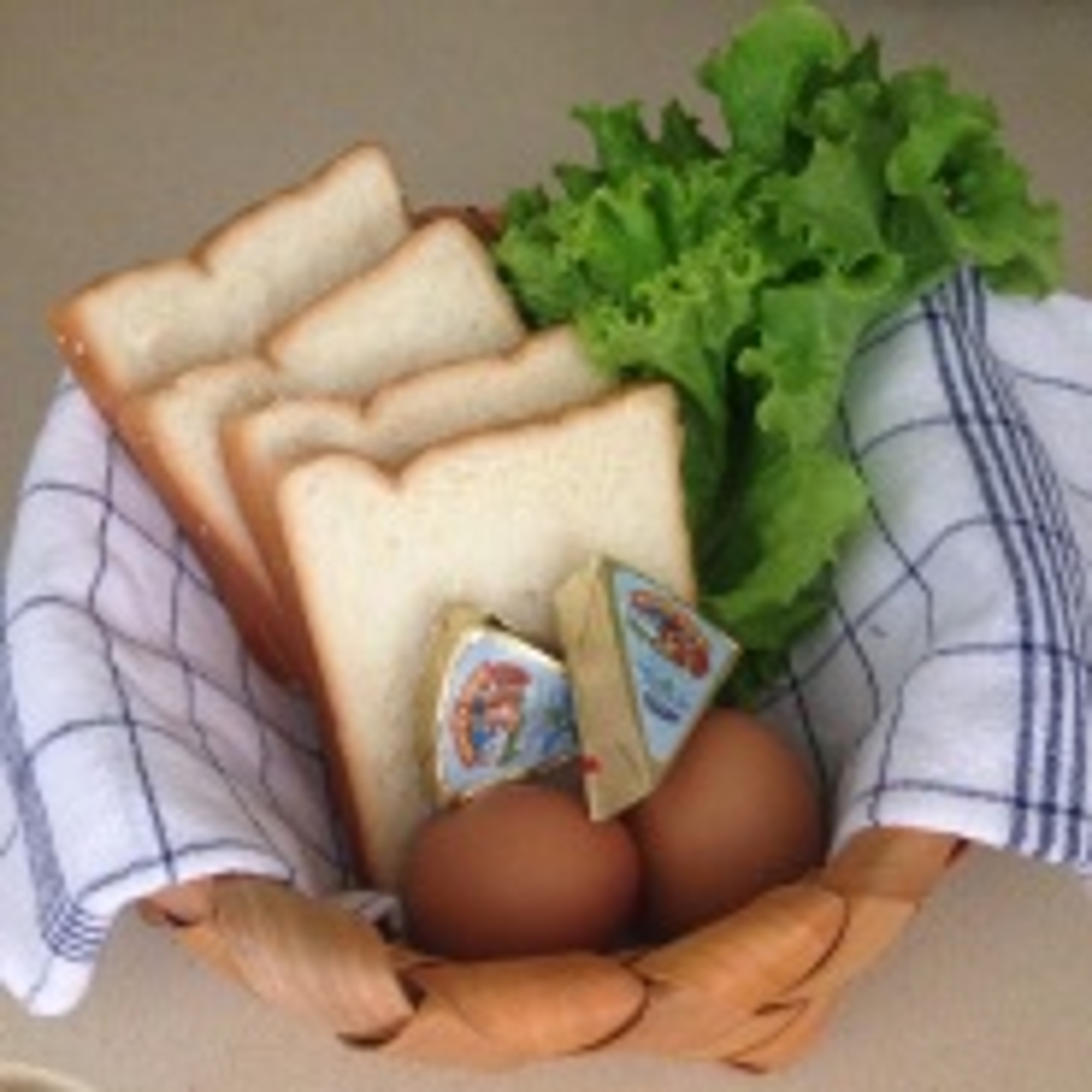 豆沙口袋三明治