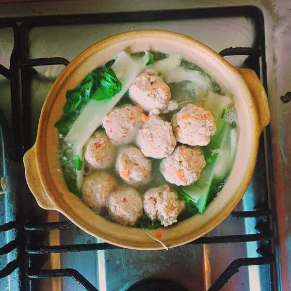 咖喱丸子粉丝煲