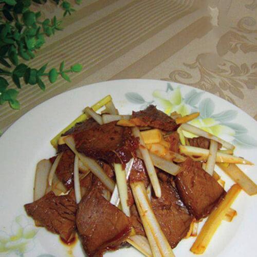 简单菜-葱丝拌牛肉