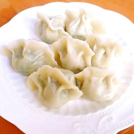 鸡蛋茴香苗饺子