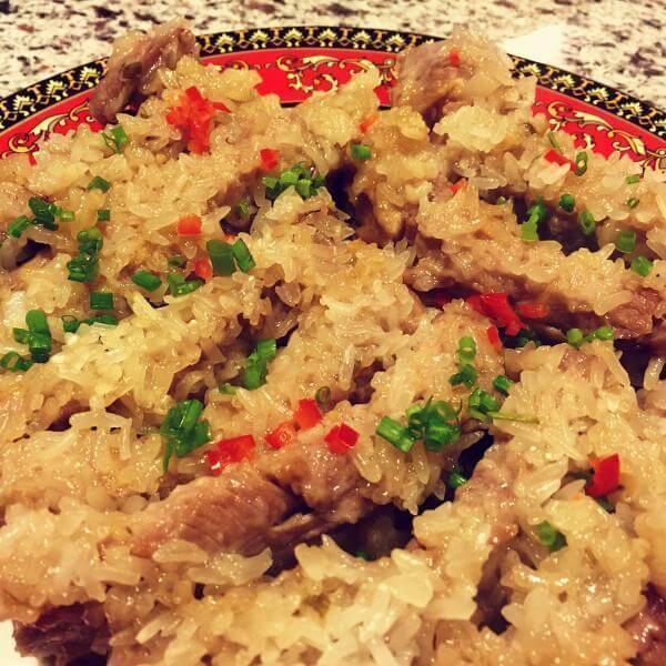 【儿童美食】糯米蒸排骨