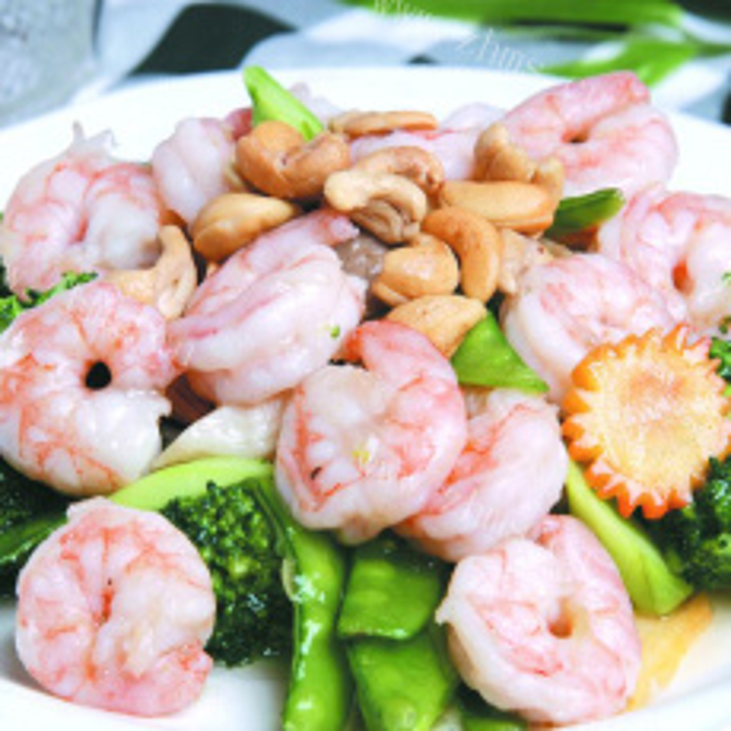 美味的时蔬虾仁