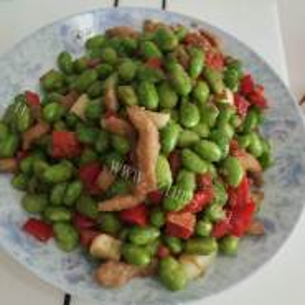 肉泥炒青豆