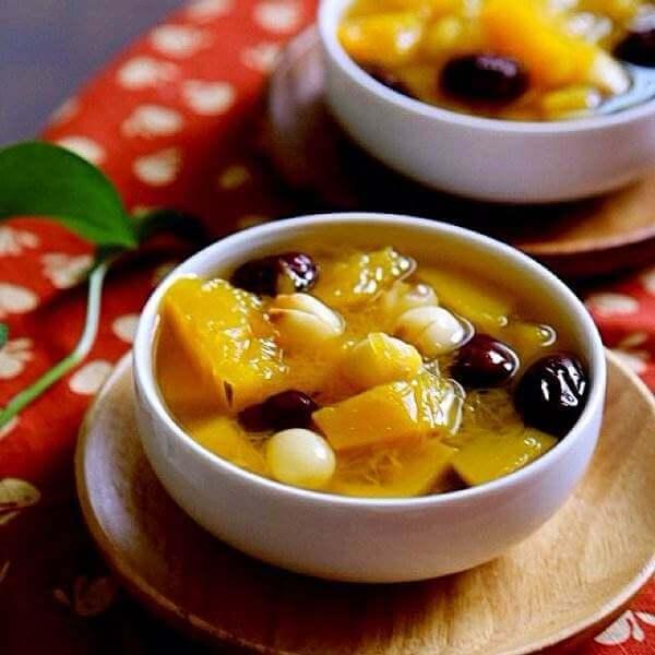 红枣莲子蒸南瓜