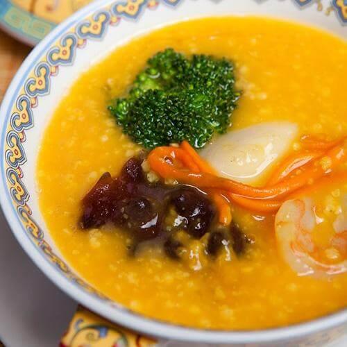 苹果胡萝卜大米小米羹