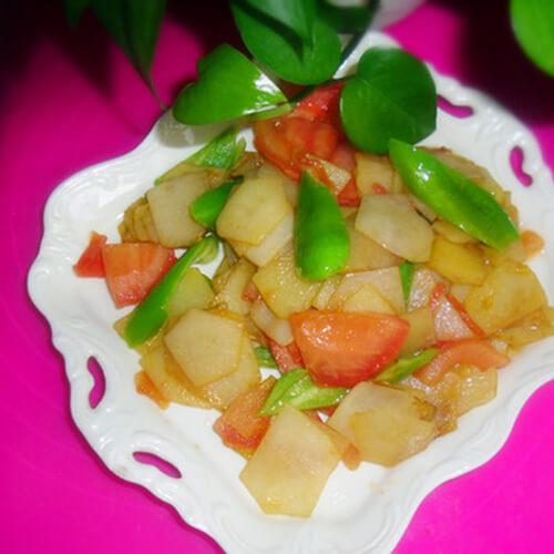 家常小素之尖椒土豆片