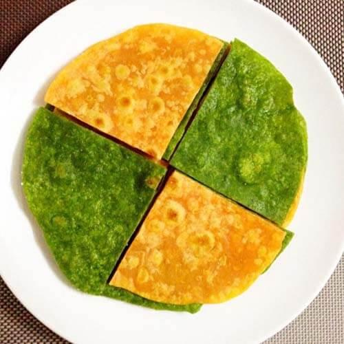 菠菜五香烙饼