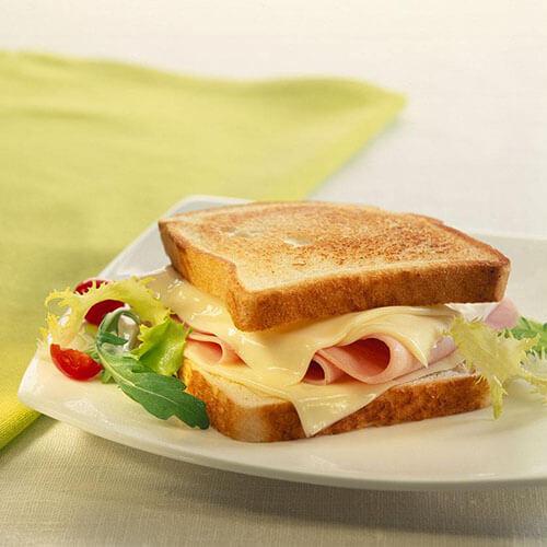 可口美味的火腿奶酪