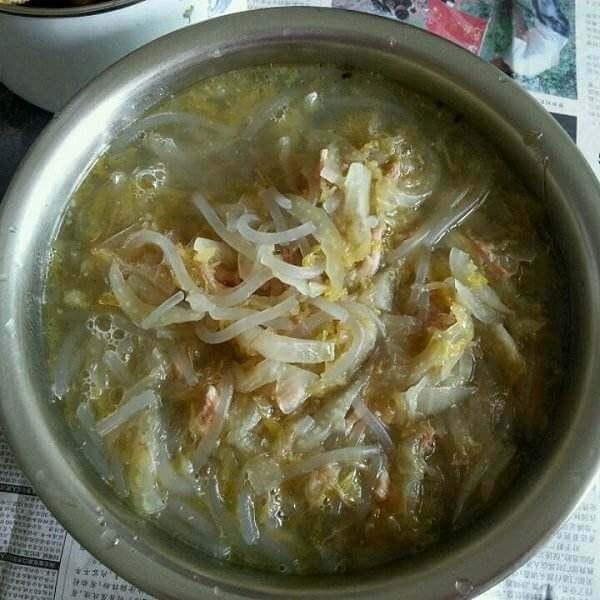 海鲜烩酸菜粉条