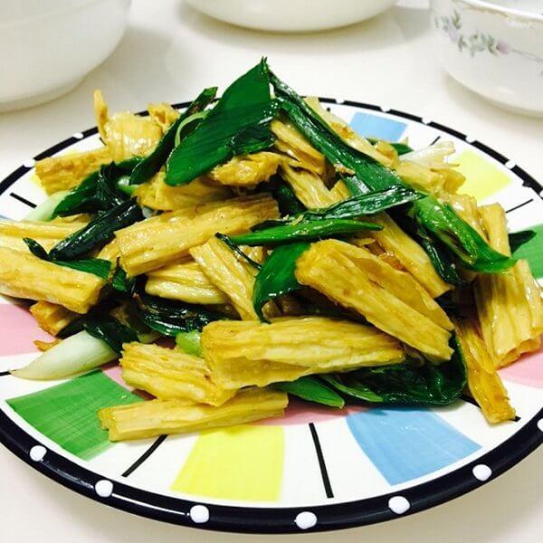 腐竹炒西兰花