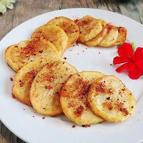 美味的酥香土豆片