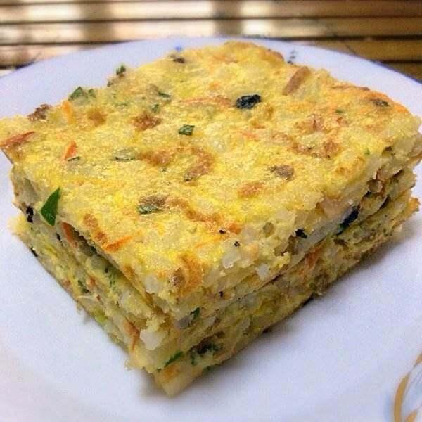 韭菜米饭饼